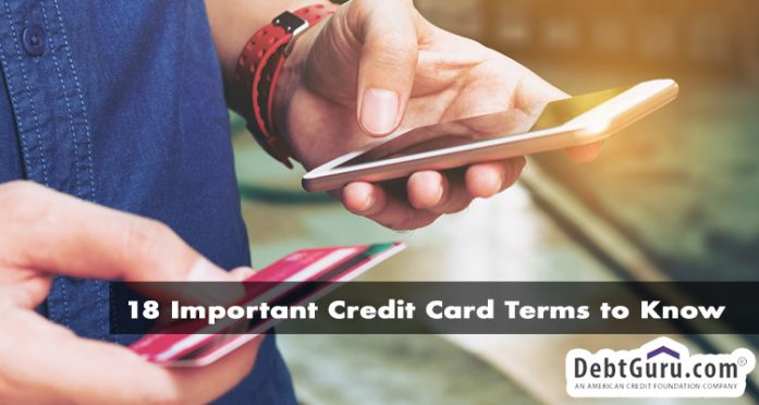 18 important credit card terms to know
