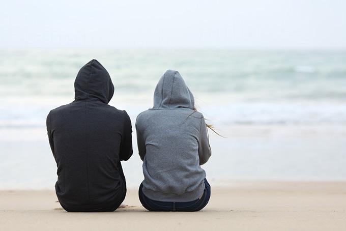 anxious couple