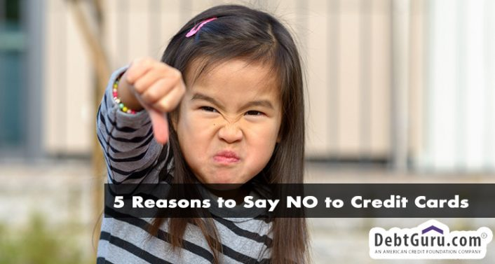 5 reasons to say no to credit cards